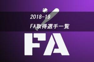 【2018-2019】プロ野球 FA取得選手【動向一覧】