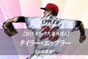 【2019 オリックス】新外国人 タイラー・エップラー【特徴や成績】プレー動画