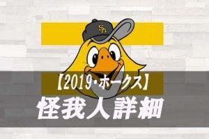 2019年版【怪我人・DL】福岡ソフトバンクホークス 故障者リスト詳細