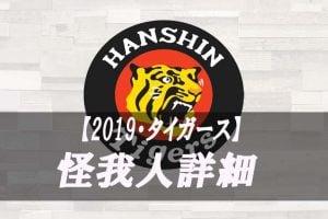2019年版【怪我人・DL】阪神タイガース 故障者リスト詳細